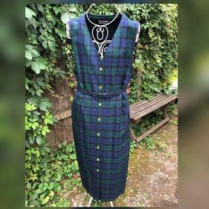 Luck of The Irish Vintage Pendleton Plaid Dress
